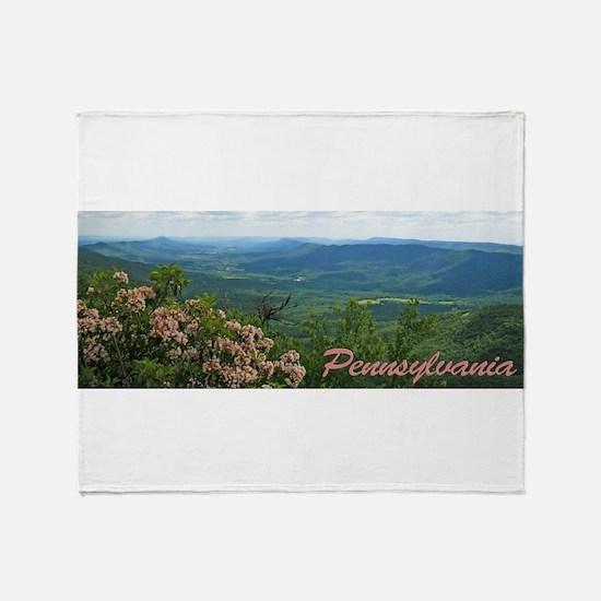 Pennsylvania Mountain Laurel Throw Blanket