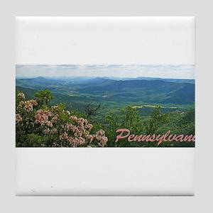 Pennsylvania Mountain Laurel Tile Coaster