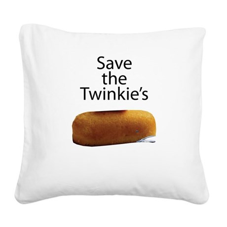Save The Twinkie's Square Canvas Pillow