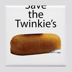 Save The Twinkie's Tile Coaster