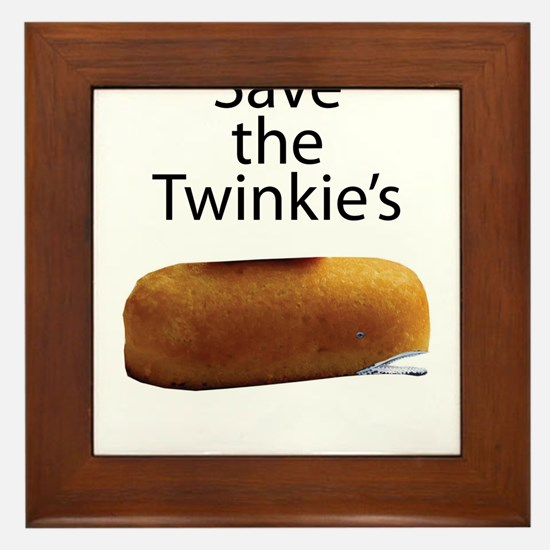 Save The Twinkie's Framed Tile