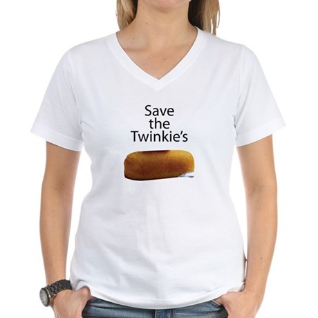 Save The Twinkie's Women's V-Neck T-Shirt