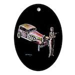 Vintage style art on Ornament (Oval)