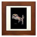 Vintage style art on Framed Tile