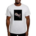 Vintage style art on Light T-Shirt
