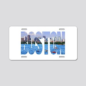 Boston Back Bay Skyline Aluminum License Plate