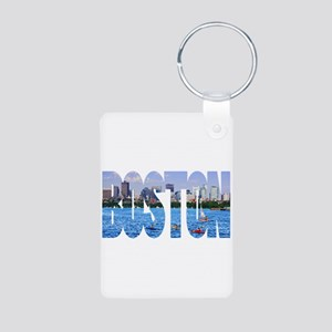 Boston Back Bay Skyline Aluminum Photo Keychain