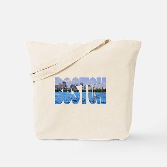 Boston Back Bay Skyline Tote Bag