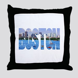 Boston Back Bay Skyline Throw Pillow