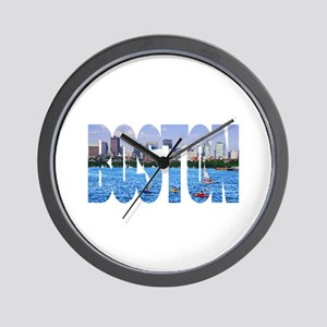 Boston Back Bay Skyline Wall Clock