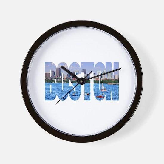 Boston Back Bay Skyline Wall Clock