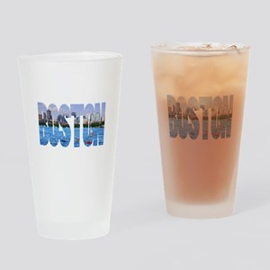 Boston Back Bay Skyline Drinking Glass