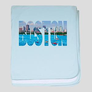 Boston Back Bay Skyline baby blanket