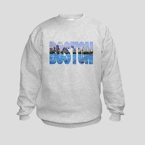 Boston Back Bay Skyline Kids Sweatshirt