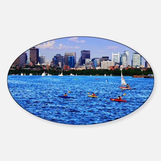 Boston Back Bay Skyline Charles River Decal