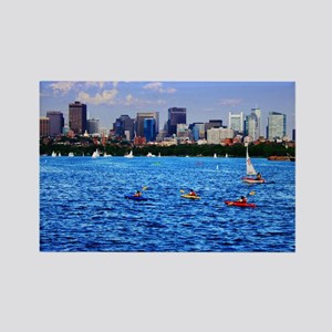 Boston Back Bay Skyline Charles River Rectangle Ma