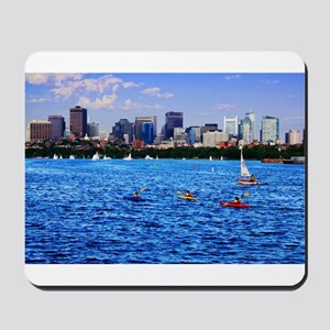 Boston Back Bay Skyline Charles River Mousepad