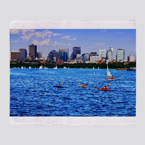 Boston Back Bay Skyline Charles River Stadium Bla