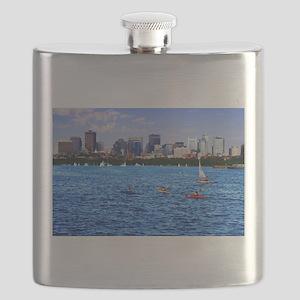 Boston Back Bay Skyline Charles River Flask