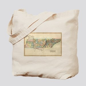 Vintage Map of Tennessee (1822) Tote Bag