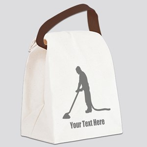 Vacuum Cleaning. Your Text. Canvas Lunch Bag