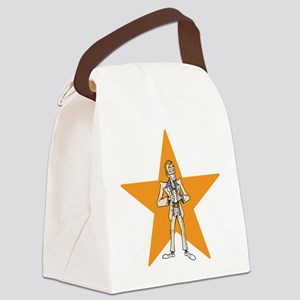 Cool Man and Orange Star. Canvas Lunch Bag