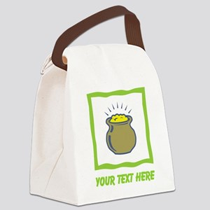 Pot of Gold. Custom Writing. Canvas Lunch Bag