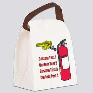 Fire Safety Equipment. Custom. Canvas Lunch Bag