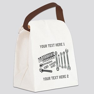 Wrenches with Text. Canvas Lunch Bag