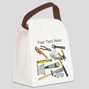Tools with Gray Text. Canvas Lunch Bag