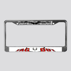 Black Powder License Plate Frame