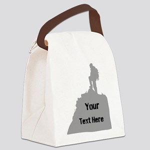 Hiking. Your Own Text. Canvas Lunch Bag