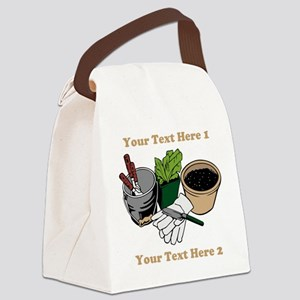 Gardening. Custom Text Canvas Lunch Bag