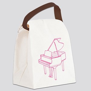 Pink Piano Canvas Lunch Bag