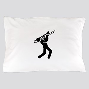 Trombone Player Pillow Case