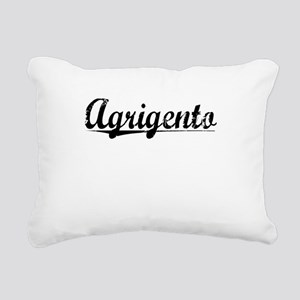 Agrigento, Aged, Rectangular Canvas Pillow