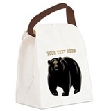 Black bear Canvas Lunch Bag