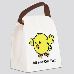 Cute Chick. Black Text Canvas Lunch Bag