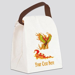 Phoenix and Custom Text. Canvas Lunch Bag