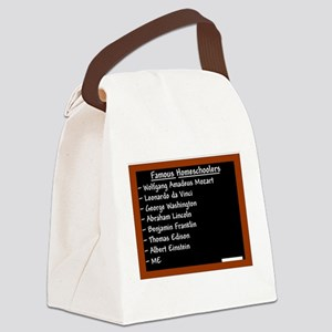 famous homeschoolers male Canvas Lunch Bag