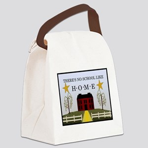noschoollikehome Canvas Lunch Bag