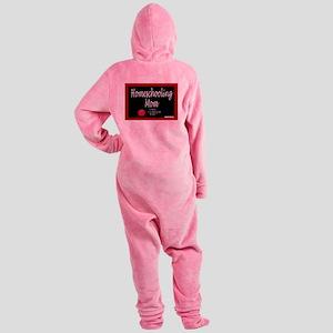 homeschooling mom Footed Pajamas
