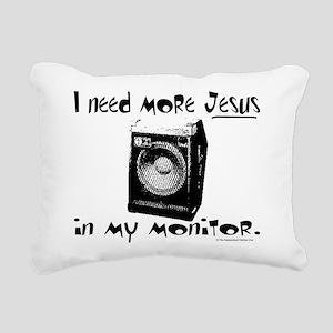 monitordark Rectangular Canvas Pillow
