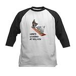 Cute Goat Kids Baseball Jersey