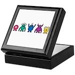 Kawaii Rainbow Alien Monsters Keepsake Box