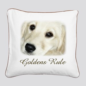 Goldens Rule Square Canvas Pillow