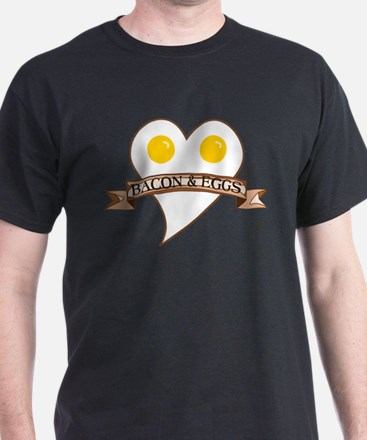 Love Heart Bacon Eggs T-Shirt