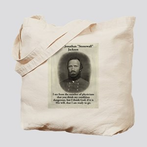 I See From The Number - Stonewall Jackson Tote Bag