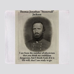 I See From The Number - Stonewall Jackson Throw Bl