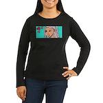 ARI BY RAY Women's Long Sleeve Dark T-Shirt